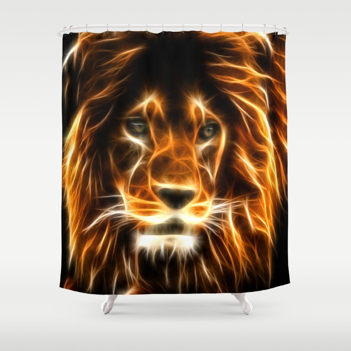 Lion Shower Curtain By Markashkenazi