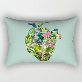 Botanical Heart Mint Rectangular Pillow