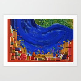 Varanasi oldest city on earth- Abstract view Art Print