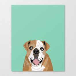 Roscoe - English bulldog dog dogs pet pets gifts for dog person dog people  Canvas Print