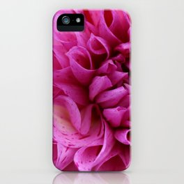 Hot Pink Dahlia iPhone Case