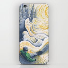 Snowboader in a 'Pillow Paradise' iPhone Skin