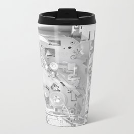 White Gears Metal Travel Mug