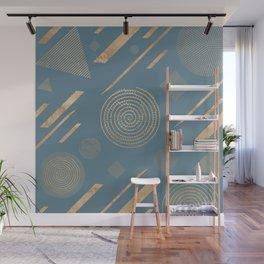 Blueprint Geometric Pattern 6 Wall Mural