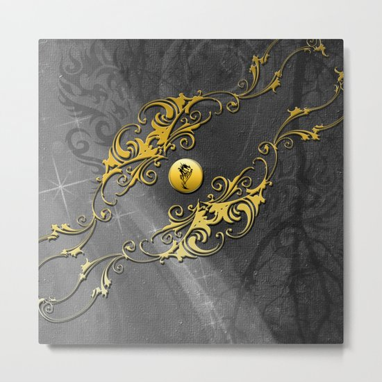 Awesome chinese dragon Metal Print