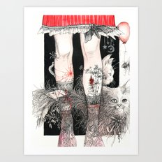 Knees Art Print