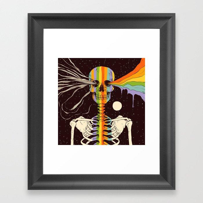 Dark Side of Existence Gerahmter Kunstdruck