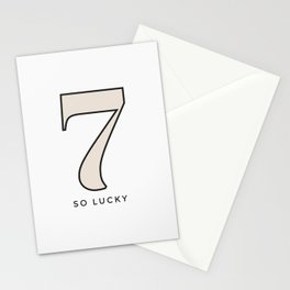 Seven So Lucky Stationery Cards