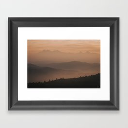 Mountain Love - Landscape and Nature Photography Framed Art Print