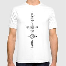 the sun, the moon, and the truth MEDIUM White Mens Fitted Tee