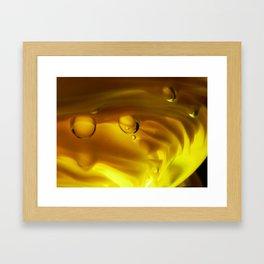 Amber Ripples Framed Art Print
