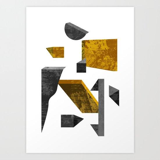 Geometric poster Art Print