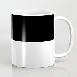 Black and white - Half and Half Split Coffee Mug