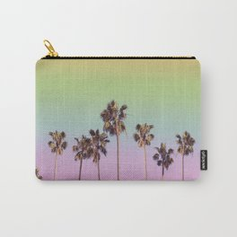 palm trees rainbow vintage Carry-All Pouch