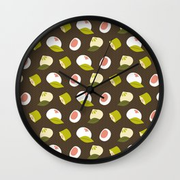 Dim sum pattern Wall Clock