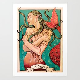 La Sirena from the Loteria Camp series Art Print