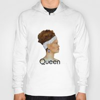 queen Hoodies featuring Queen by Nina Bryant Studio