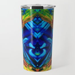 Colorful Abstract Art - Purrfection - By Sharon Cummings Travel Mug