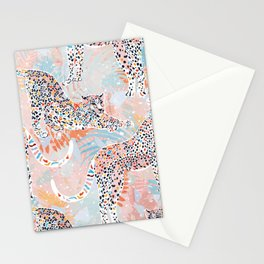 Colorful Wild Cats Stationery Cards