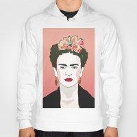 frida Hoodies featuring Frida by Amanda Corbett