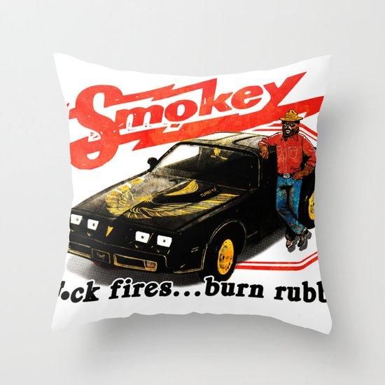 """""""F"""" Fires Throw Pillow"""