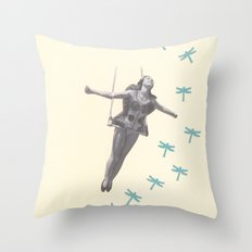 Oh to be a Dragonfly Throw Pillow