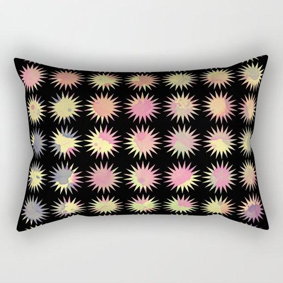 Colorful Sun Pattern Rectangular Pillow
