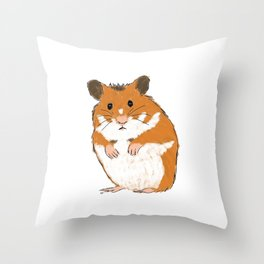 Hamster Throw Pillow
