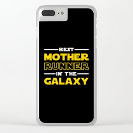 Best Mother Runner In The Galaxy Clear iPhone Case