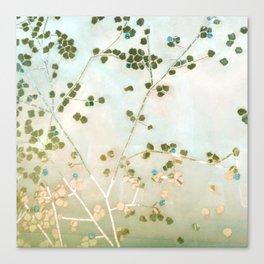 mosaica glitterati in blue + gold Canvas Print