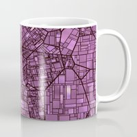 maps Mugs featuring Fantasy City Maps 4 by MehrFarbeimLeben