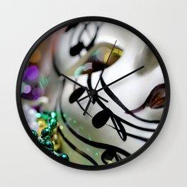 Mardi Gras I Wall Clock