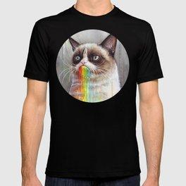 Cat Tastes the Grumpy Rainbow T-shirt