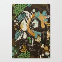 surrealism Canvas Prints featuring surrealism by Judit Varga