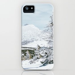 Sniezka Winter Mountains iPhone Case
