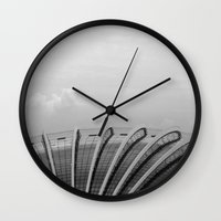 singapore Wall Clocks featuring Singapore Architecture by rossco