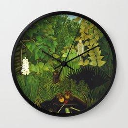 """Henri Rousseau """"Merry Jesters"""" Wall Clock"""