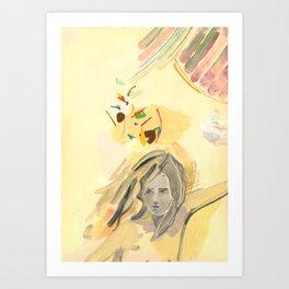 Dreaming Yellow Art Print