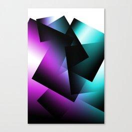 Teal and Fuchsia Transparent Blocks Canvas Print