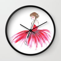 ballerina Wall Clocks featuring Ballerina !!  by Rashmi Dagwar