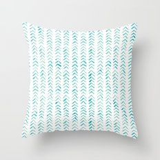 Arrow up aquatica pattern Throw Pillow