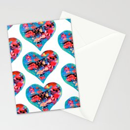 Tie-Dye Hearts Stationery Cards
