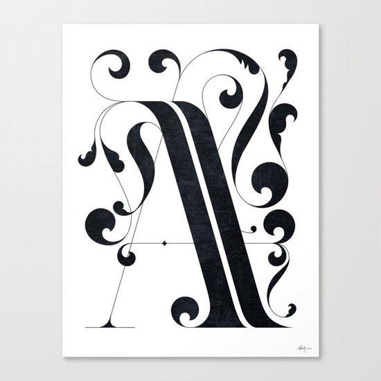 """Drop cap """"A"""" Canvas Print"""