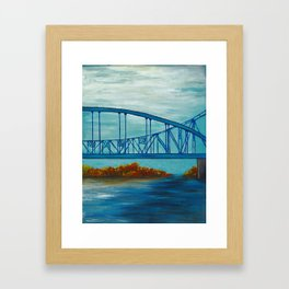 Fall Cass Street Bridge 3 of 4 Framed Art Print