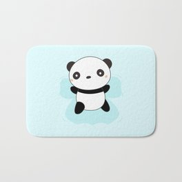 Kawaii Panda Snow Angel Bath Mat