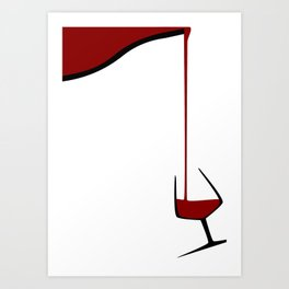 Pouring A Glass Of Wine Art Print