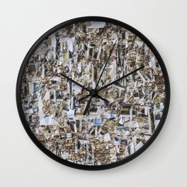 Texture of paper shredded wall Wall Clock