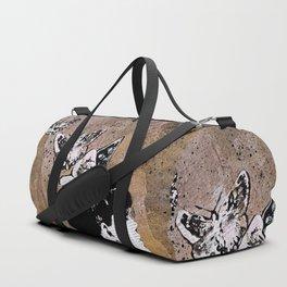 Long Gone Whisper II (street art graffiti painting, girl with butterflies) Duffle Bag