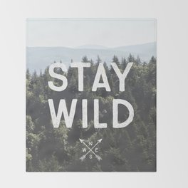 Stay Wild - Mountain Pines Throw Blanket