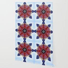 Red and blue classic trucks kaleidoscope Wallpaper